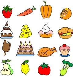 Set of meal icons vector