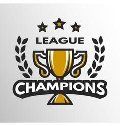 Sports league logo emblem badge vector image