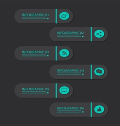 Infographic buttons blue vector