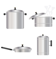 Kitchen dishes vector