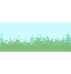Grass horizontal seamless pattern vector