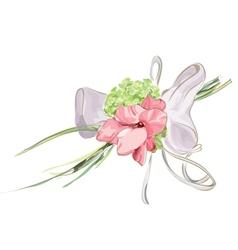 Wedding floral decor vector
