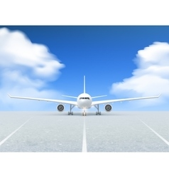 Airplane runway poster vector