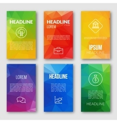 Web design set template business triangular vector