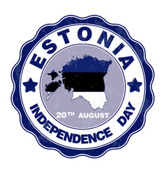 A ribbon for estonia vector