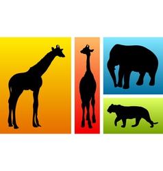 animals safari vector image