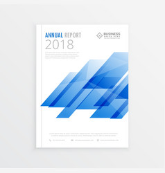 Annual report mockup template page brochure vector