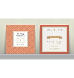 Art Deco Wedding Invitation Card vector image vector image
