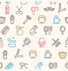barber shop pattern background vector image vector image