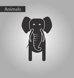 black and white style icon elephant vector image
