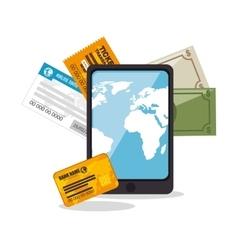 Buy online travel tickets vector