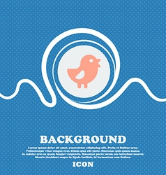 chicken Bird sign icon Blue and white abstract vector image