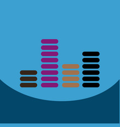 flat icon design collection sound and audio vector image vector image