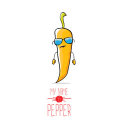 funny cartoon orange pepper character vector image vector image