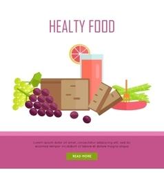 Healthy food concept web banner vector
