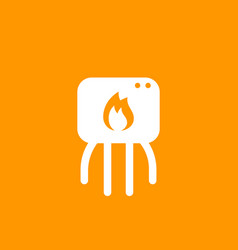Heating system icon pictogram vector