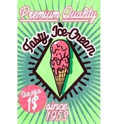 Ice cream banner vector image
