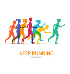 Keep running card vector