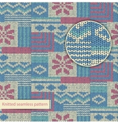 Knit seamless pattern vector
