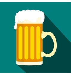 Mug of beer icon in flat style vector