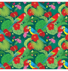 parrot flower seamless 380 vector image vector image
