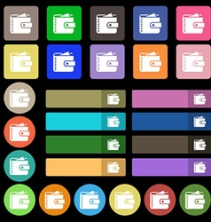 Purse icon sign Set from twenty seven multicolored vector image