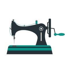 Retro sewing machine vector