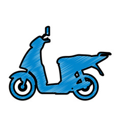 scooter motorcycle silhouette vector image vector image