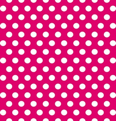 Seamless pink and white polka dots pattern vector image vector image