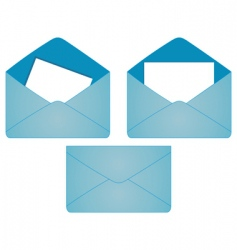 set of postal envelopes vector image vector image