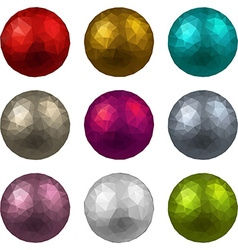 Set of textured realistic balls vector image vector image