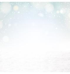 Snow environment vector image