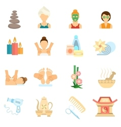 Spa Icons Flat vector image