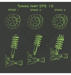 Tuning part suspension vector