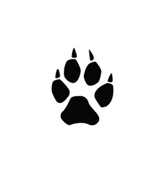 wolf footprint vector image vector image