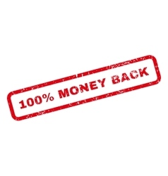 100 percent money back text rubber stamp vector