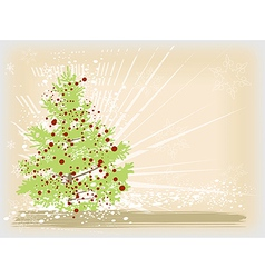 Christmas tree card image vector image