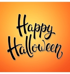 Halloween brush lettering Decoration for Halloween vector image