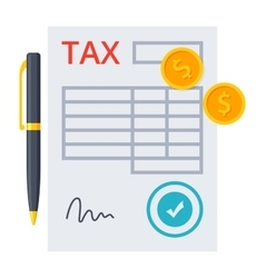 Tax Form Concept vector image