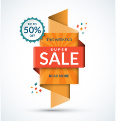 Sale banner discount and special offer template vector