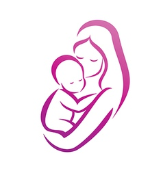 Baby with Mother vector image