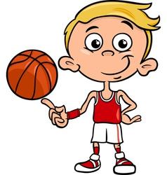 boy basketball player cartoon vector image