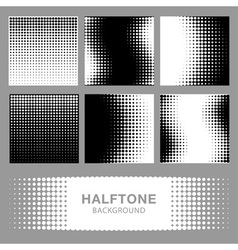 Set of Abstract Halftone Backgrounds vector image