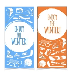 Winter sports banners vector