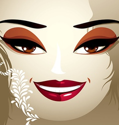 Cosmetology theme image Young pretty lady with vector image