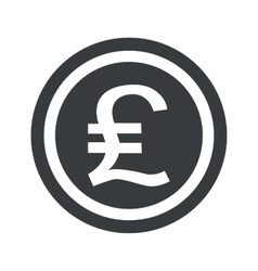 Round black pound sterling sign vector
