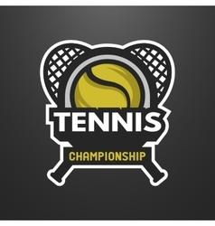 Tennis sports logo label emblem vector