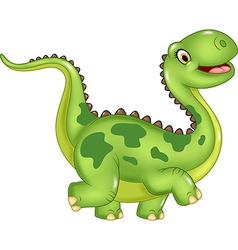 Cartoon funny dinosaur isolated vector