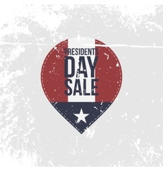 Presidents day sale grapgic label with text vector