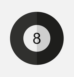 8 black billiard icon vector